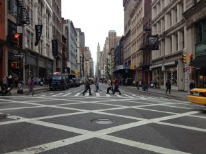 Image of one of the NYC avenues