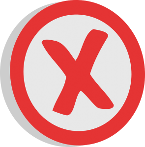 A red cross sign