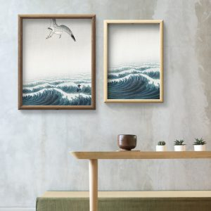 pack fine art for a move - artwork on the walls