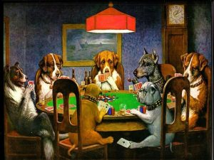 "Painting ""Dogs playing poker"""