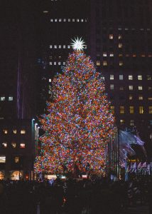 celebrate Christmas in NYC by taking a stroll to Rockefeller Christmas tree
