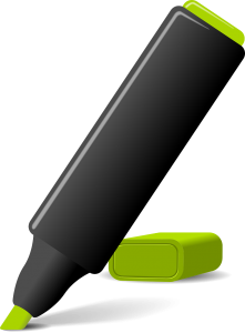 a marking pen
